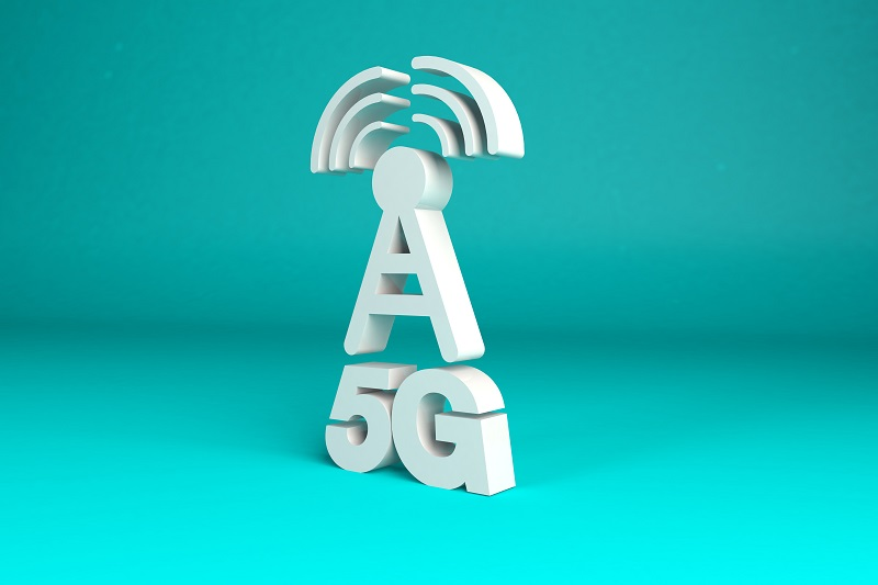 5G mast 3d rendered type
