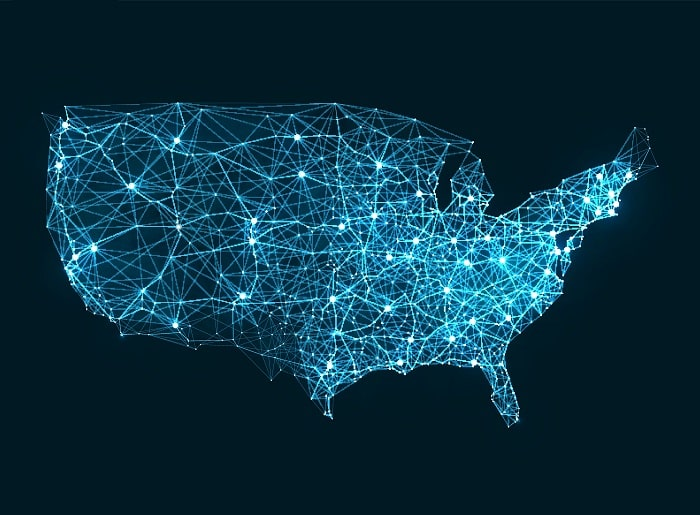 fiber internet costs by states in the united states